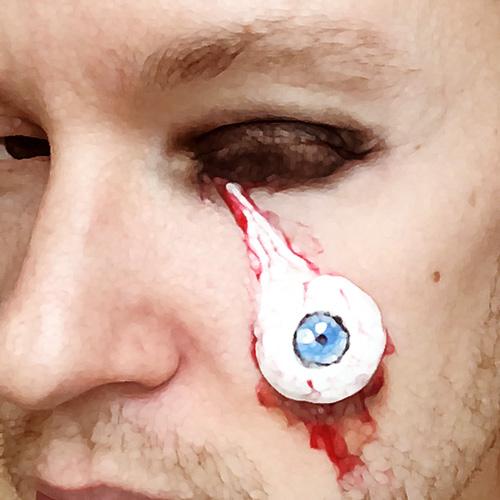Макияж на Halloween/ Хэллоуин: страшный 3D глаз