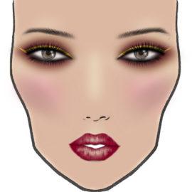 Бордовый макияж